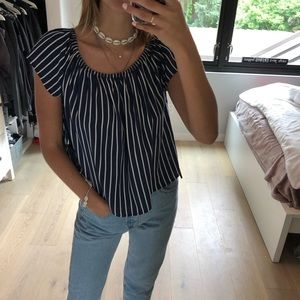 H&M off the shoulder stripe top